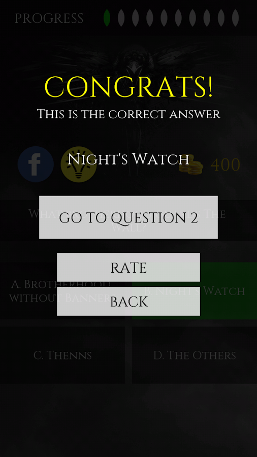 Quiz for Game of Thrones- screenshot