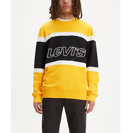 Levi's Pieced crewneck sweatshirt black white yellow