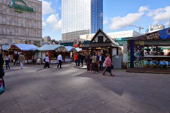 Photo: Festival set up at Alexanderplatz