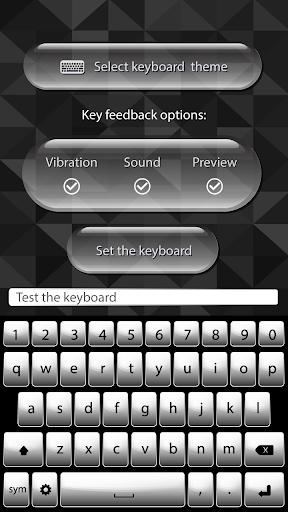 Black White Keyboard Themes