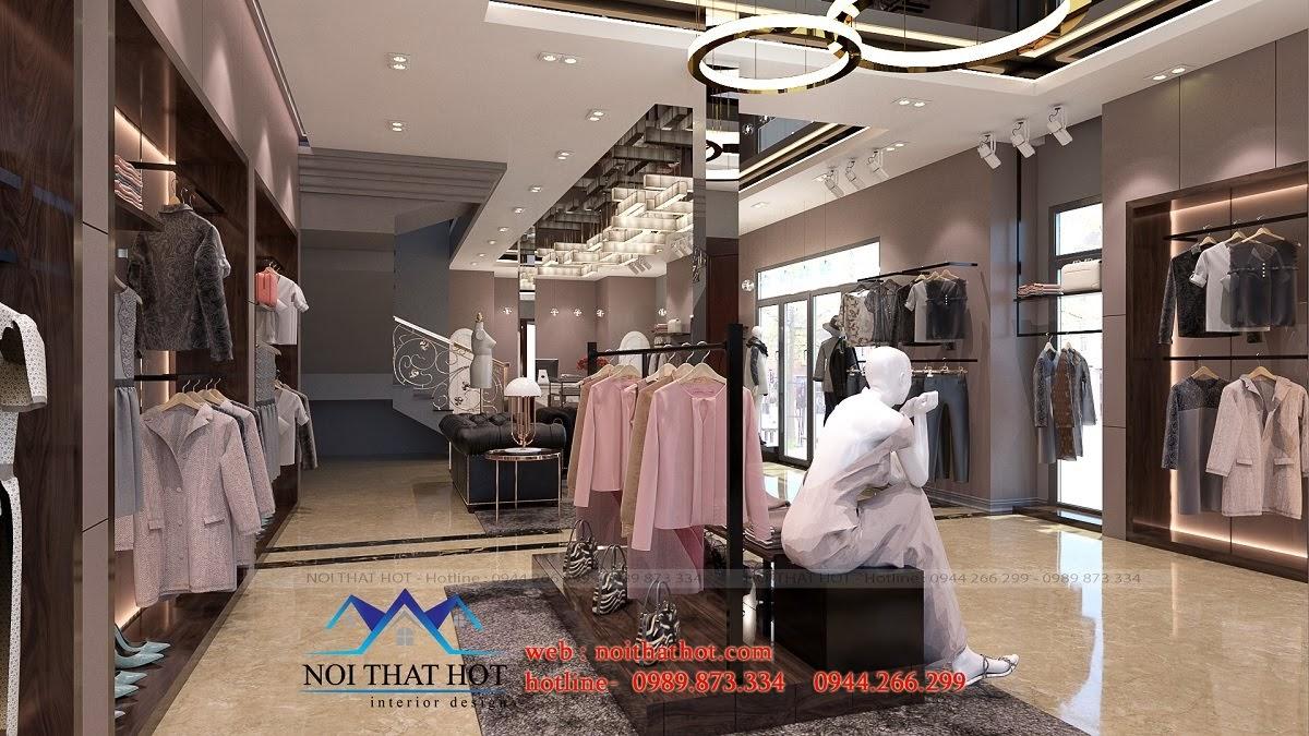 thiết kế shop thời trang sang trọng 2