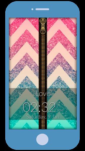 Magic Love Zipper Lock Screen