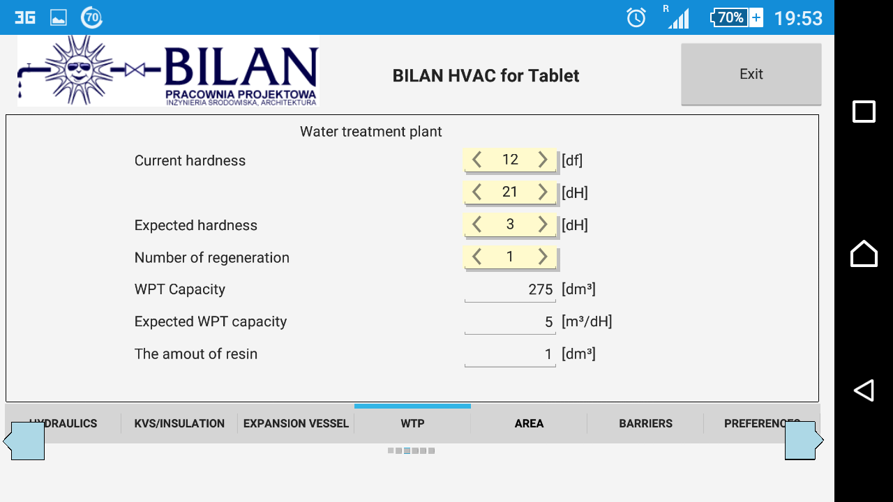 Bilan HVAC for Tablet- screenshot