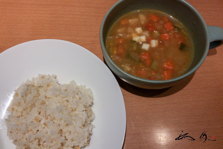 スープ&五穀米