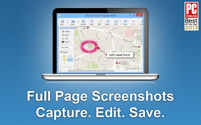 Take Webpage Screenshots Entirely - FireShot chrome extension