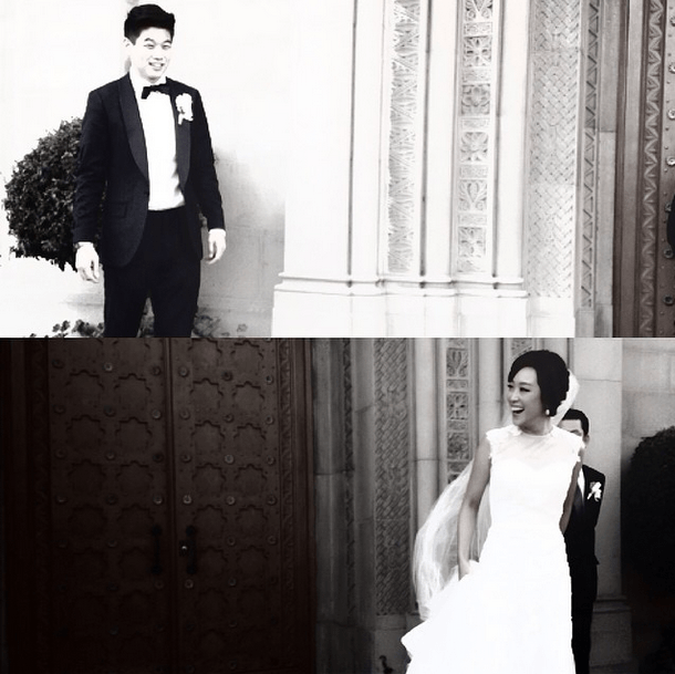 koreanamerican actor ki hong lee weds his girlfriend of