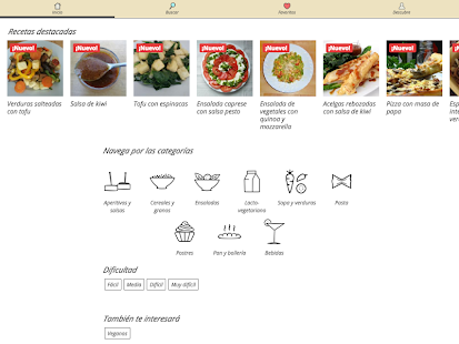 🍅  Recetas vegetarianas 🌽 Screenshot