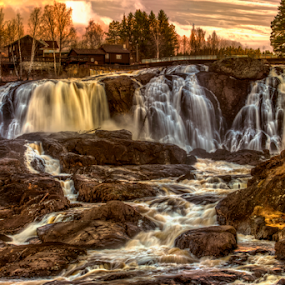 Haugfoss Waterfall by Johannes Mikkelsen - Landscapes Waterscapes ( d800, waterfall, art, artistic, nikon )