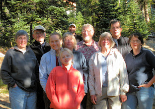 Photo: L-R: Jane, Randy, Sarah, Hope, Mary-Carter, Rich, Bill, Linda, Jim, Polly (Photo by Celia)