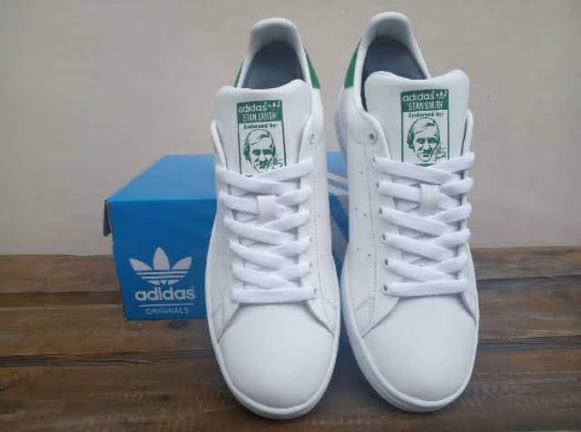 Jual Sepatu Adidas Adidas stan smith white green 100% original BNWB