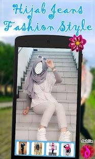 Hijab Jeans Fashion Style Ekran Görüntüsü