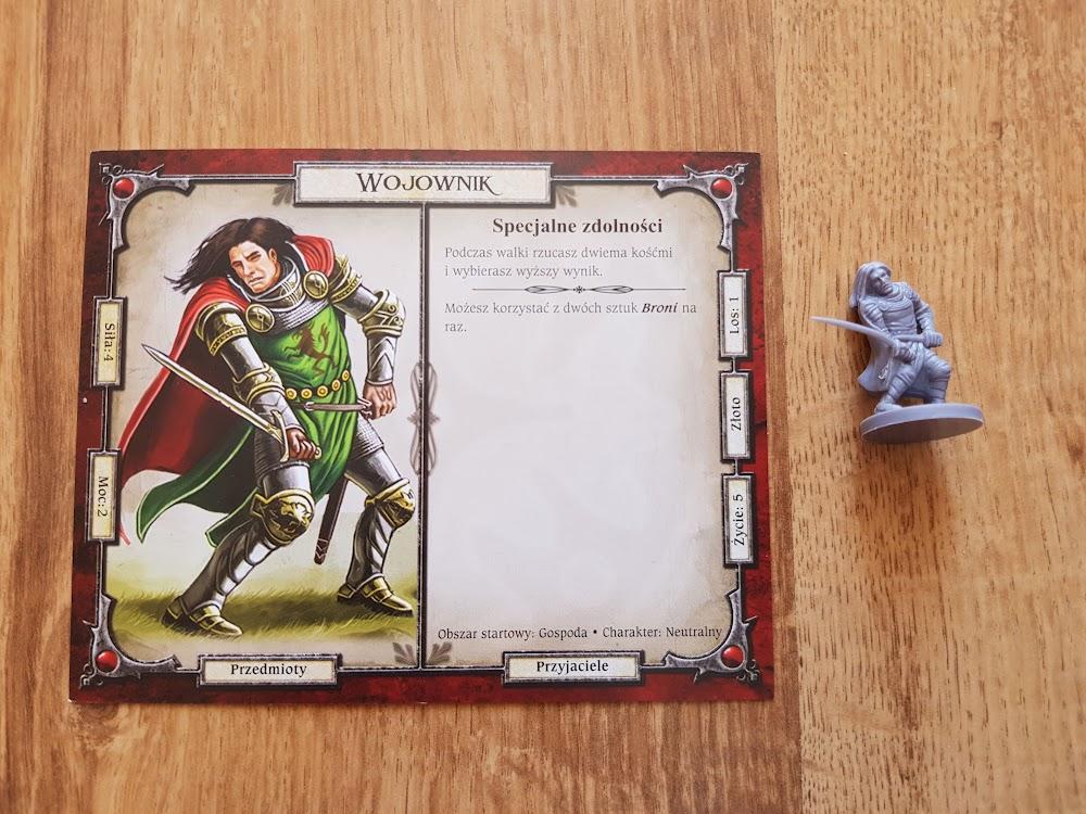 Talisman - przykładowa karta - wojownik