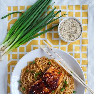BBQ Sesame Salmon & Noodles.