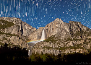 Photo: Upper Yosemite Fall Moonbow and Star Trails This image was a finalist in the Astronomy Photographer of the Year contest sponsored by the Royal Observatory, Greenwich: http://www.guardian.co.uk/science/gallery/2011/aug/12/astronomy-photographer-year-2011-shortlist#/?picture=377796373&index=3