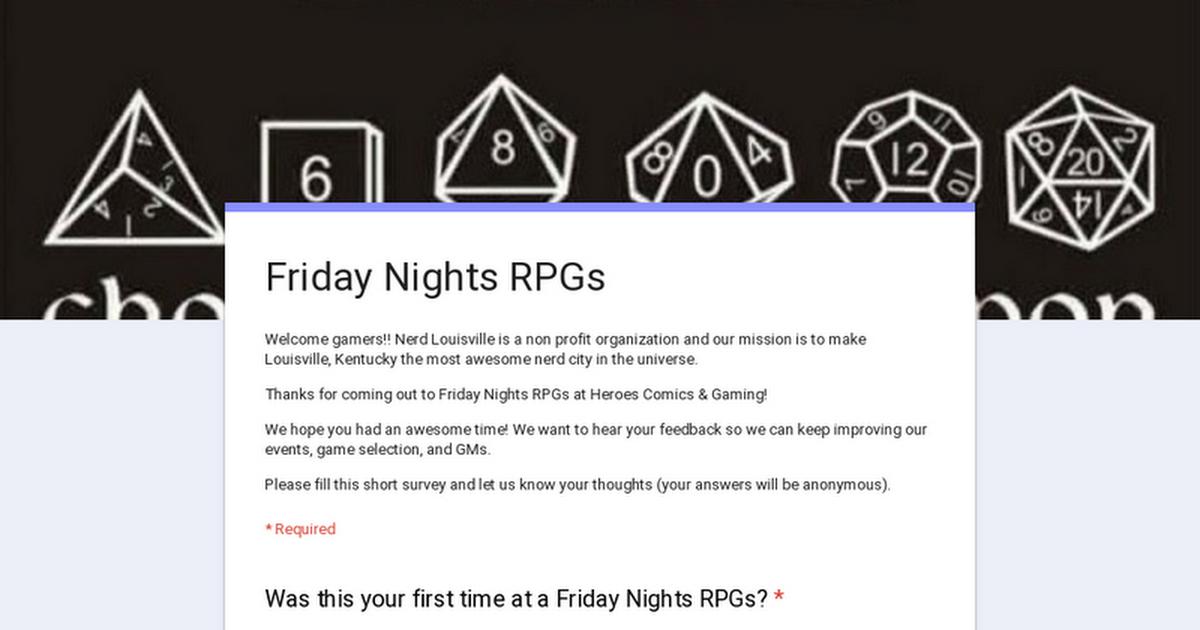 Friday Nights RPGs