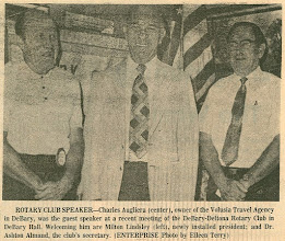 Photo: President Milt Lindsley, Charlie Augliera, Ashton Almand - Thursday, June 28, 1973 DeBary-Deltona Enterprise