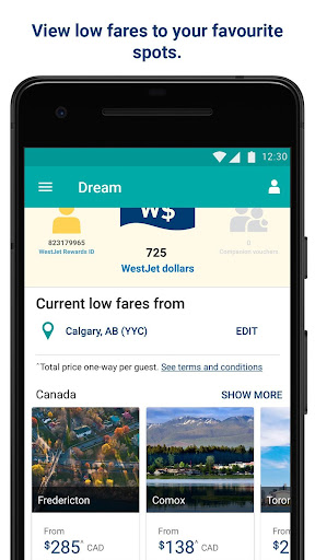 WestJet 4.3 app download 1