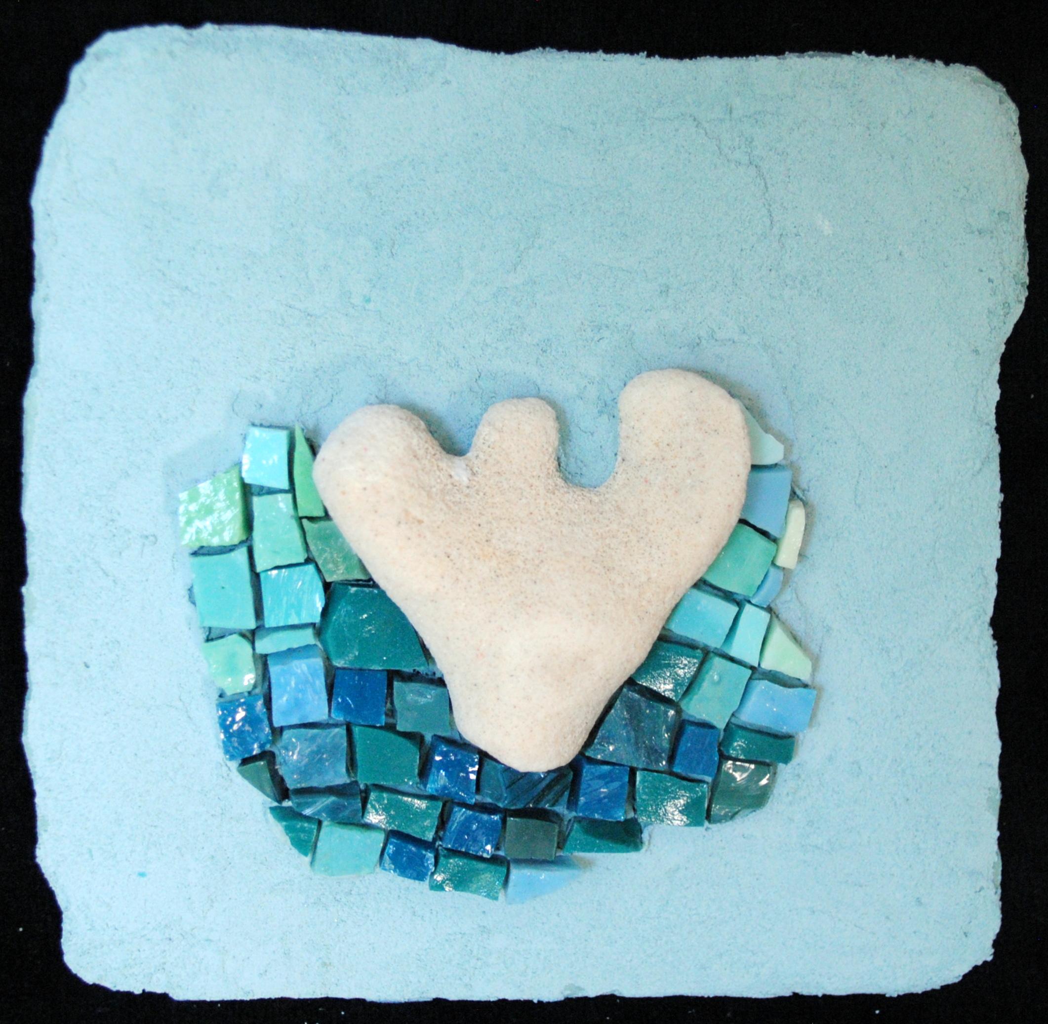 Tiny Barbados Coral on Aqua by Brenda Pokorny MOW1042