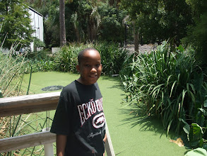 Photo: Jihad in front of the pond.  it was covered in duckweed