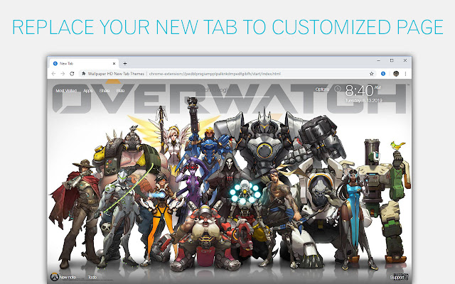 Overwatch Wallpaper Hd Custom New Tab