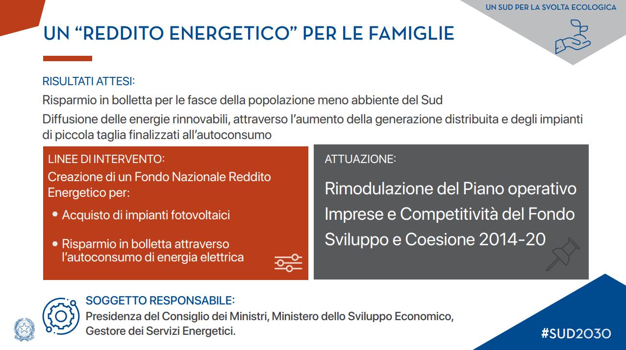 Piano Sud 2030 - misure energia e ambiente