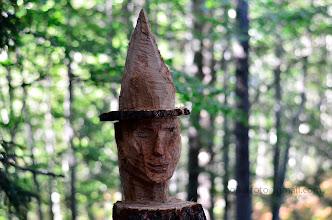 Photo: Tale mojstrovina je že višje gori, v gozdu, tričetrt ure naprej. Nekdo je izrezljal res lepo umetnino, jaz pa sem prišel do lepe portretne fotke :)