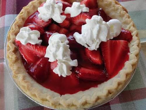 """Summertime Strawberry Pie""""This is a great summertime recipe. It is a cold..."""