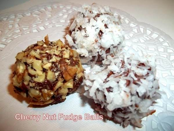 ~ Cherry Fudge Nut Balls ~ Recipe