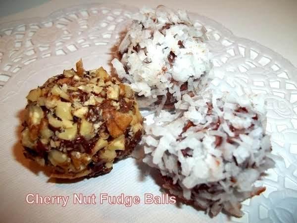 ~ Cherry Fudge Nut Balls ~