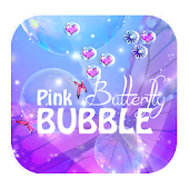Pink Butterfly Bubble
