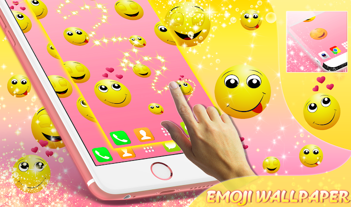 Emoji Live Wallpaper Android App Screenshot