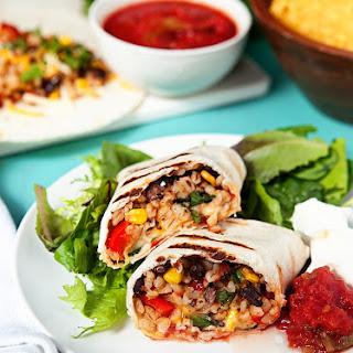 Vegetarian Slow Cooker Burritos.
