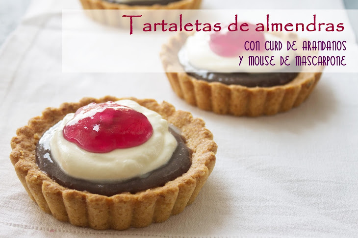 Almond Tartlets with Blueberry Curd and Mascarpone Mousse Recipe