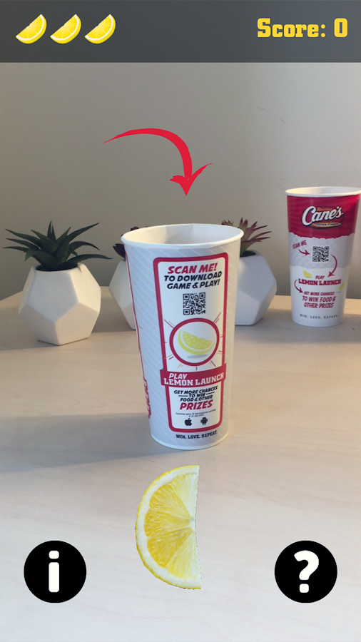 Raising Cane's® Lemon Launch- screenshot