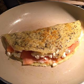Salmon Feta Omelet