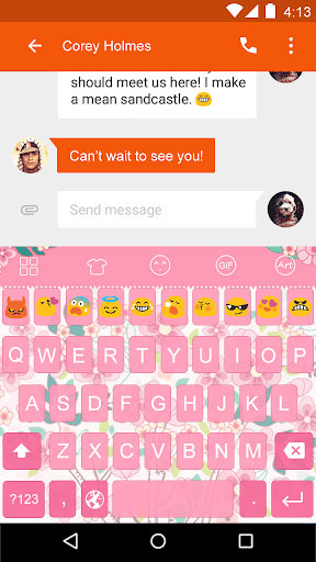 Flower -Love Emoji Keyboard
