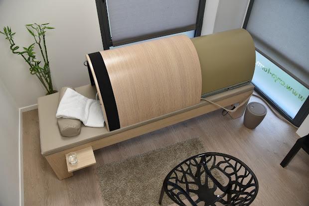 Japanese sauna in a spa hotel