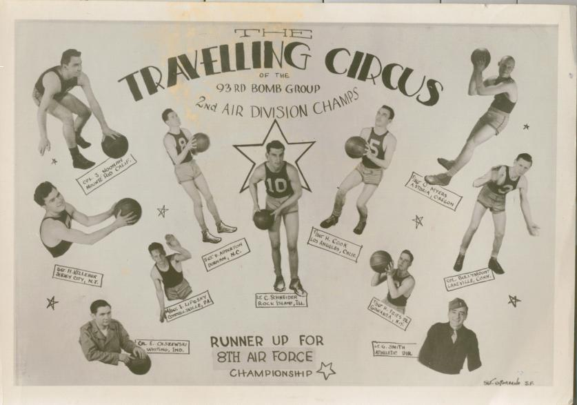 Photo: 10 Pin Bowling Team poster artwork by S/Sgt Joseph Frank Giordano.