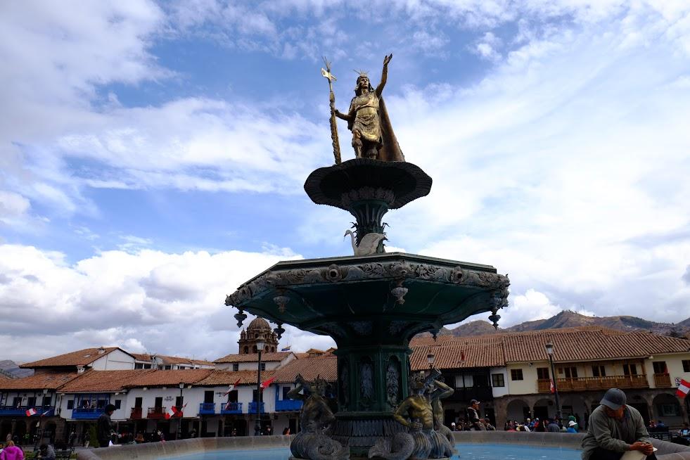 Fontanna w centrum Cusco