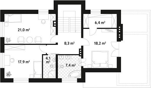 Cyprys 4 CE - Rzut piętra