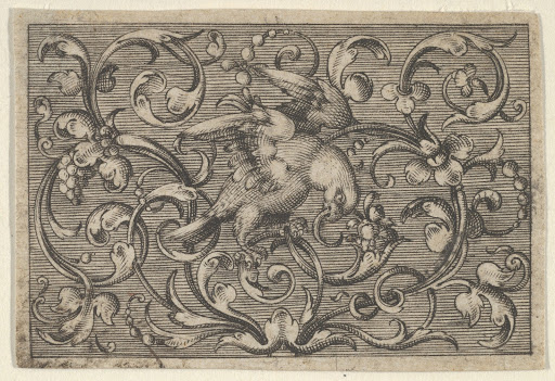 Horizontal Panel with a Bird, from Varii Generis Opera Aurifabris Necessaria