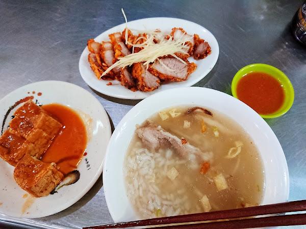 無名香菇肉粥- 黃石市場必吃道地平價美食 傳統台式早餐 紅燒肉 炸豆腐都美味 @板橋府中