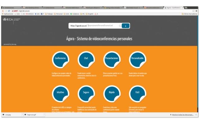 Jitsi Desktop Streamer - Universidad de Cadiz