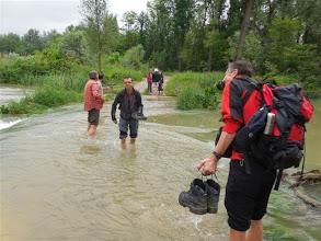 Photo: Auch er kann nicht auf dem Wasser wandeln (Foto J. Bauer)