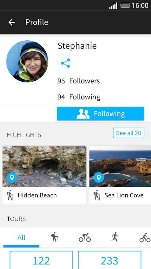 komoot — Hike & Bike GPS Maps - screenshot