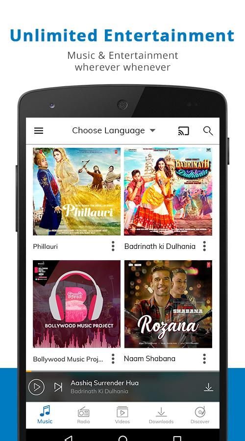 Screenshots of Hungama Music - Songs & Videos for iPhone