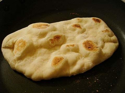 Set Oven to 400* BakePlace Naan Bread On A Small Pizza Pan - No...