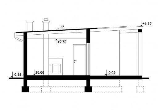 G182 - Budynek rekreacyjny - Przekrój