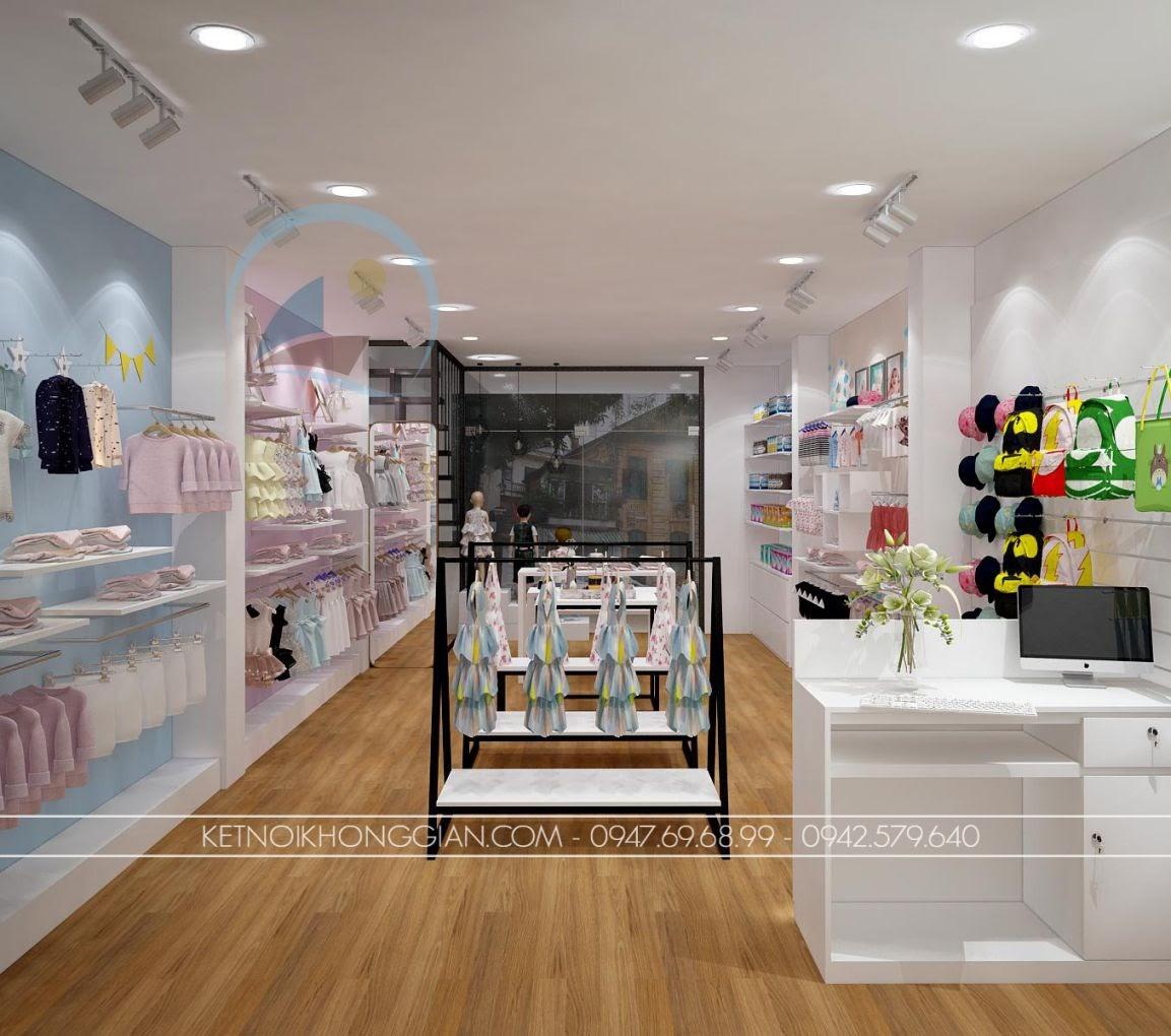 thiết kế shop thời trang trẻ em giá rẻ 3