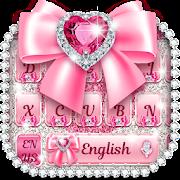 Pink bow diamond keyboard